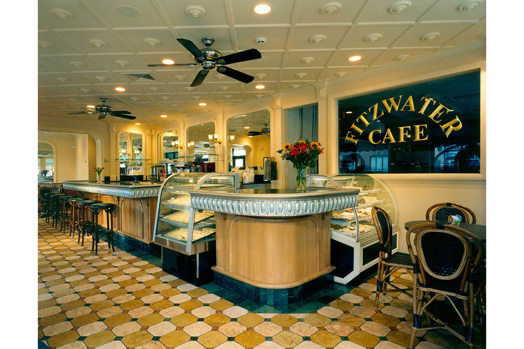 fitzwater cafe   marguerite rodgers interior design
